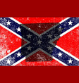 rebel civil war flag with arkansas map vector image