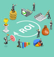 return on investment flat isometric concept vector image