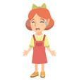 sad caucasian girl sobbing vector image