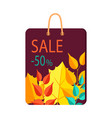 sale -50 bag with print on vector image vector image