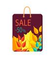 sale -50 bag with print on vector image