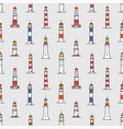 seamless pattern with lighthouses of various types vector image vector image