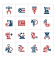 Set color icons of robotic industry vector image vector image