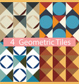 set colorful geometric tiles vector image vector image