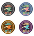 Set Of Coffee Symbol Badge vector image