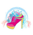 Shoe Floral Poster vector image vector image