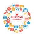 shopping line icons banner vector image vector image