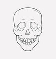 skull icon line element of vector image