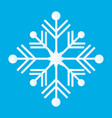 snowflake thin line ftat design vector image vector image