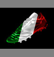 soccer football boot with the flag of italy vector image vector image