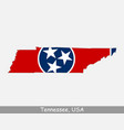 Tennessee usa map flag