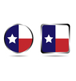 texas flag icon isolated on white vector image vector image