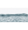 transparent water with caustics ripple vector image vector image