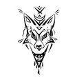tribal pattern fox polynesian tattoo style vector image