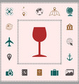wineglass icon symbol elements for your design vector image vector image