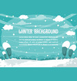 winter snowman background design vector image