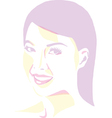 Women portrait - pop art vector image vector image