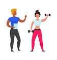 workout cardio and weightlifting with personal gym vector image