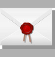 envelope sealed with wax vector image