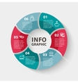 circle infographics Template for diagram vector image