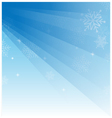 Abstract light blue christmas background with vector image vector image