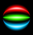 abstract rainbow ray on black background vector image vector image