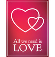 All Lovers Day Valentine card romantic gradient vector image vector image