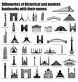 architecture silhouettes vector image vector image