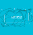 background with light blue color paper cut shapes vector image