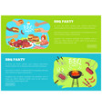 bbq party web sites with text vector image vector image