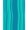 Blue green horizontal abstract wave retro vector image vector image