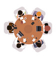 business meeting top view office workers vector image vector image