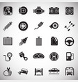 car parts and repair set on white background for vector image vector image