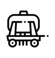 cargo water trailer vehicle thin line icon vector image vector image