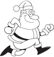 Cartoon Santa Claus Running vector image vector image