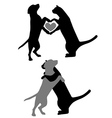 Cat Dog Love vector image vector image