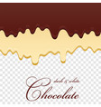 chocolate seamless pattern drip dark milk vector image vector image