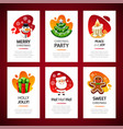 christmas greeting cards light set vector image vector image