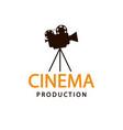 cinema logo emblem template vector image vector image