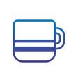 coffee cup office line gradient design vector image
