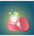 cosmetics jar with a miracle cream vector image