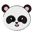 cute and tender bear panda head character vector image