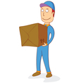 delivering order box vector image vector image