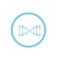 Dna blue round icon