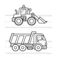 Dump Truck Excavator vector image