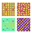 email set of seamless pattern vector image