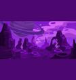 fantasy space cartoon game concept background vector image vector image