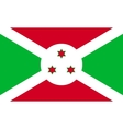 Flag of Burundi in correct proportions and colors vector image vector image