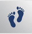foot print icon in flat style foot step isolated vector image
