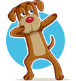 funny dog dabbing cartoon vector image vector image